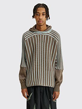 Kiko Kostadinov Freydal Hooded Knit Bronze / Blue