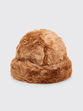 Landlord New York Faux Fur Beanie Hat Tan