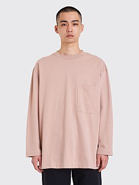 Lemaire Long Sleeve T-shirt Smoked Pink