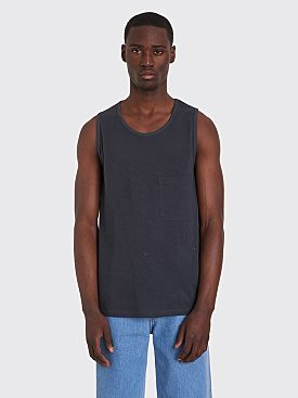 Lemaire x Sunspel Mesh Tank Top Navy