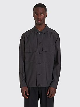 Lemaire Four Pockets Wool Overshirt Coal
