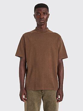 Lemaire Mock Neck T-shirt Dark Earth