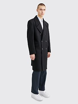 Lemaire Double Breasted Coat Black