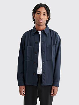 Lemaire Wool Overshirt Dark Navy