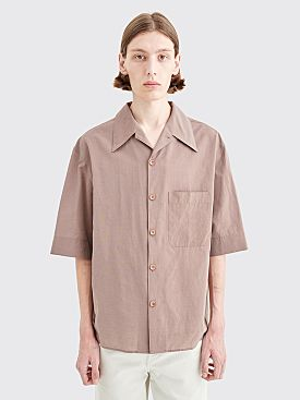 Lemaire Convertible Collar Shirt Terracotta
