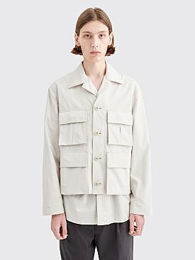 Lemaire V Neck Jacket Ice Grey