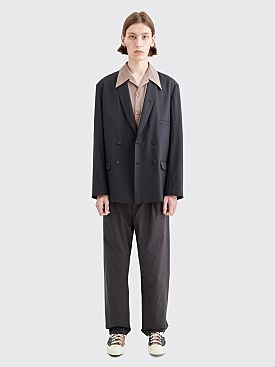 Lemaire Double Breasted Jacket Caviar
