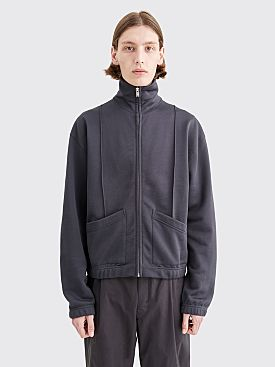 Lemaire Zipped Jersey Jacket Carbon