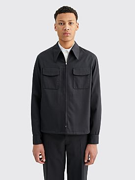 Lemaire Light Zip Wool Blouson Caviar