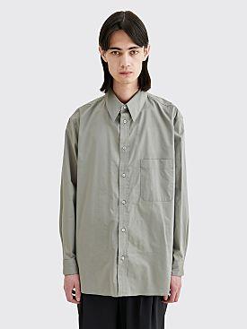 Lemaire Straight Collar Shirt Grey