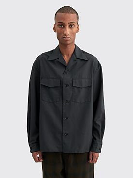 Lemaire Convertible Collar Shirt Anthracite