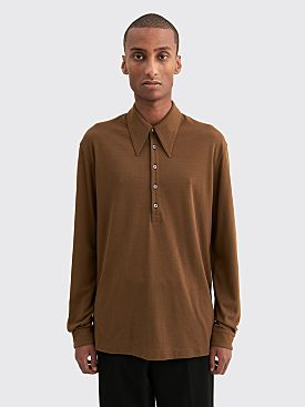 Lemaire Crepe Polo Dark Earth