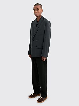 Lemaire Belted Double Breasted Jacket Anthracite