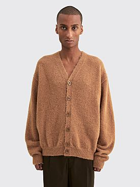 Lemaire Oversized Cardigan Ocre Brown