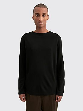 Lemaire Felted Long Sleeve T-shirt Black