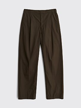Lemaire Pleated Drawstring Pants Midnight Green