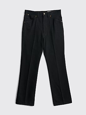 Lemaire Bootcut Denim Pants Black