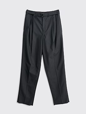 Lemaire Belted Pleat Pants Anthracite
