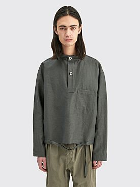 Lemaire Smock Top Technical Linen Dark Stone Grey