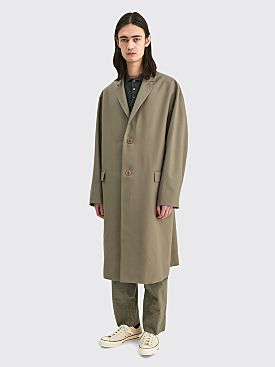 Lemaire Light Suit Wool Coat Taupe