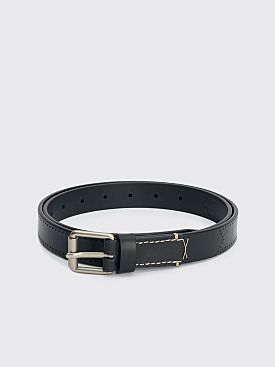 Lemaire Reversed Thin Belt Black