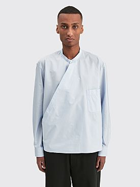 Lemaire Wrapover Shirt Ice Blue