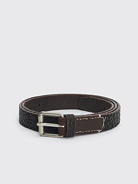 Lemaire Reversed Thin Belt Dark Brown