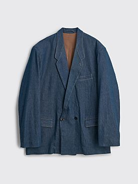 Lemaire Denim DB Jacket Jean Blue