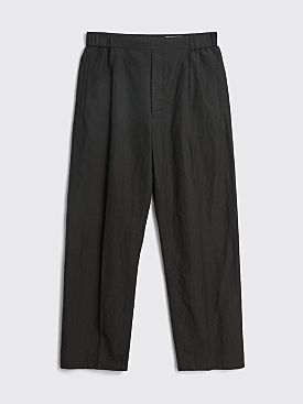 Lemaire Pleated Drawstring Pants Black