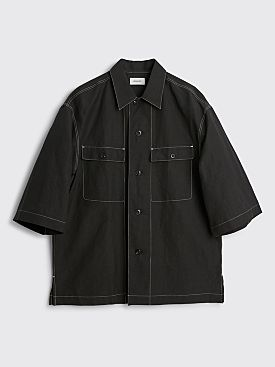 Lemaire Short Sleeve Pyjama Shirt Black