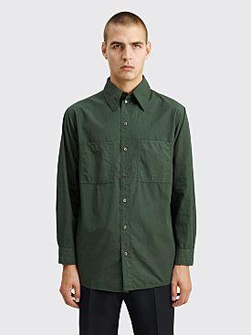 Lemaire Patch Pocket Shirt Deep Forest