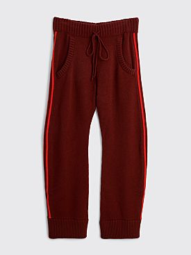 Maison Margiela Wool Track Pants Bordeaux