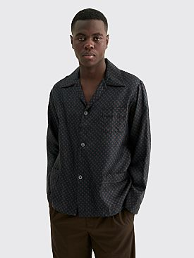 Maison Margiela Poplin Shirt Tie Pattern Navy
