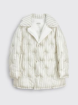 Maison Margiela Quilted Coat Striped White / Grey