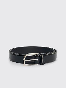 Maison Margiela Classic Leather Belt Black