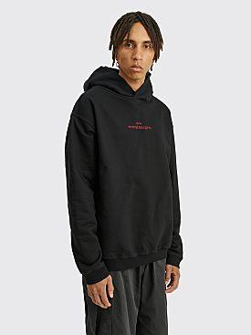 Maison Margiela Hooded Logo Sweatshirt Black