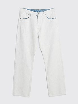 Maison Margiela Painted Five Pocket Trousers White