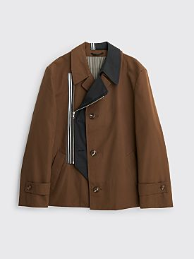 Marina Yee Mister David Zipper Coat Brown / Black