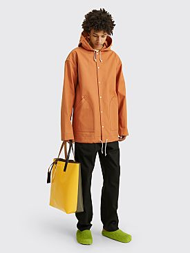 Marni Hooded Canvas Jacket Chili