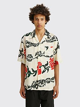 Marni Short Sleeve Shirt Floral Stripe Print
