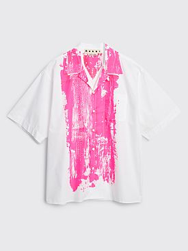 Marni Short Sleeve Print Shirt White / Pink