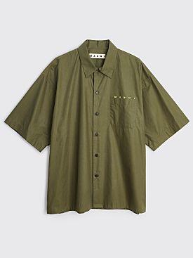 Marni Short Sleeve Pocket Logo Shirt Olive