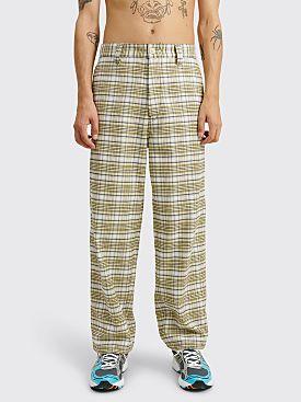 Marni Flannel Check Pants Grey / Yellow