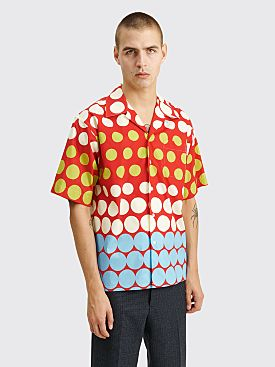 Marni Short Sleeve Dot Shirt Red