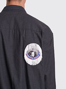 Martine Rose Shock Cord Shirt Grey