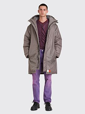 Martine Rose Wenger Padded Parka Jacket Light Grey