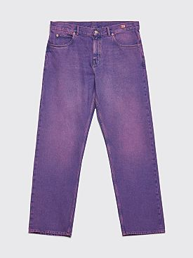 Martine Rose Straight Leg Jeans Purple