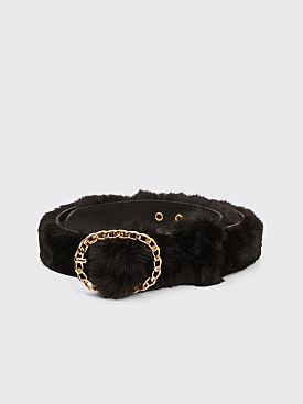 Martine Rose Furry Belt Black