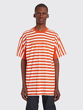 Martine Rose Oversized T-shirt Stripe Orange