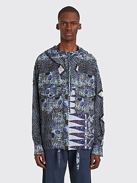 Martine Rose Hooded Shirt Blue Mandela